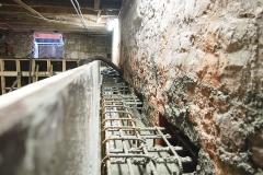 De bekisting is aangebracht en kan worden volgestort met beton.